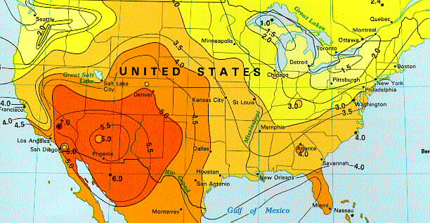Solar Insolation Map United States Of America - Us insolation map