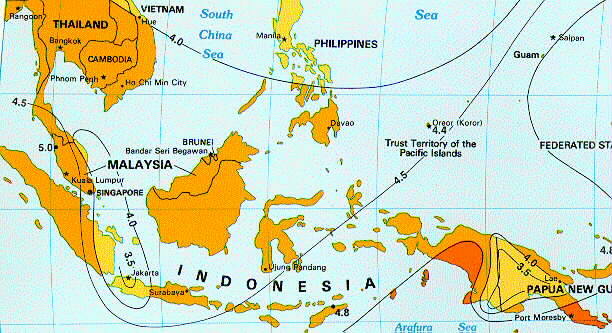 Solar Insolation Map Indonesia - Us insolation map