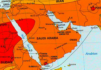 Solar Insolation Map Middle East