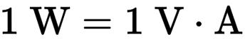 Formula for watt.